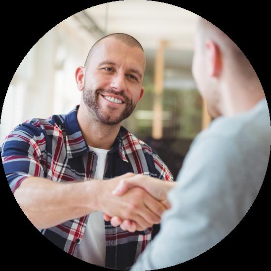 Two men shaking hands image
